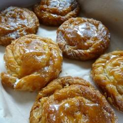 Salted Caramel Baklava Swirls
