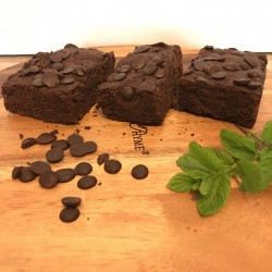 Dairy Free - Vegan - Egg Free Cool Mint & Chocolate Chip Brownies