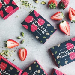 Organic Strawberry & Pistachio Chocolate Bars (3 bars)