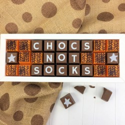 Chocs Not Socks Chocolate Box
