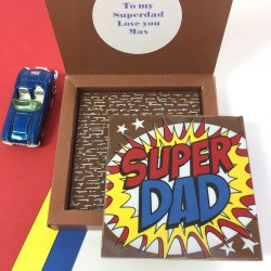 Personalised message for Superdad on Fathers Day