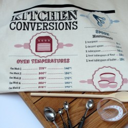 Kitchen Conversion Tea Towel (Natural)