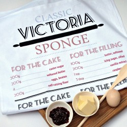 Victoria Sponge Recipe Tea Towel