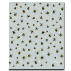 Tea Towel - Bumble Bee - Blue