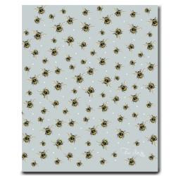 Tea Towel - Bumble Bee - Blue