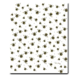 Tea Towel - Bumble Bee - White