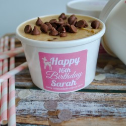 Personalised Edible Cookie Dough Birthday Tubs (20 pack)