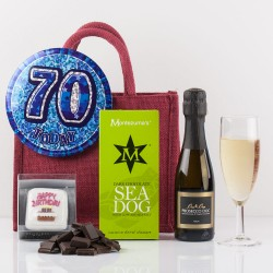 Happy 70th Birthday Gift Bag from Natures Hampers