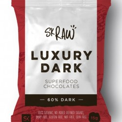 Luxury 60% Dark Raw Chocolates - Pack of 12