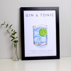 Gin and Tonic A4 Print
