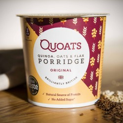 Quoats Original - Quinoa, Oats & Flax Porridge Pots (12 pack)