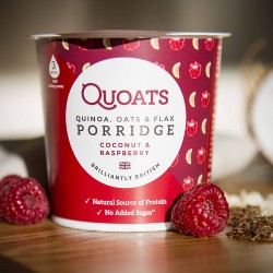 Quoats Porridge - Coconut & Raspberry (12 pack)