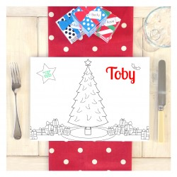 Personalised Christmas Activity Colouring Place Mat