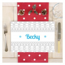 Personalised Christmas Scandi Colouring Placemat