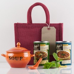 Get Well Soon Gift Bag - Luxury Organic Vegetarian & Vegan Food Basket