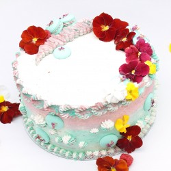 Organic Macarons Tower Cake