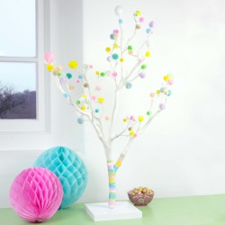 Pastel Pom Pom Easter Tree - Table Centre Piece