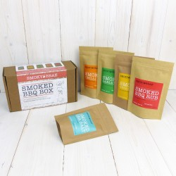 Smoked BBQ Box Gift Set - Great Taste Award winning Smoked Rubs, Chilli Flakes and Sea Salt