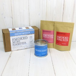 Smoked Mini Hamper Gift Set - Smoked Ingredients & Spices: Smoked Sugar, Smoked Gravlax Cure and Smoked BBQ Rub