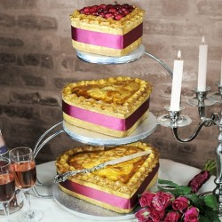 3 Tier Heart Wedding Pies