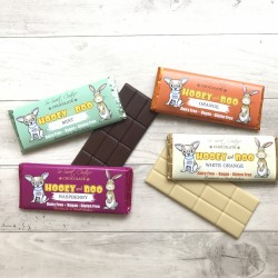 Set of 4 Hooey and Boo Childrens Dairy Free Chocolate Bars
