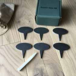 Slate Cheese Markers Set with Chalk Pencil