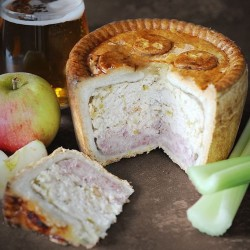 Scrumpy Cutting Pork Pie