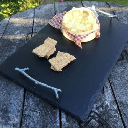 Twig Handle Slate Tray (Personalisation Available)