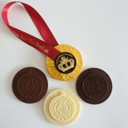 'You are the Best' Personalised Milk, Dark & White Chocolate Medals (Soya & Gluten Free)