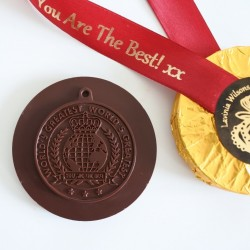 Vegan 'You are the Best' Personalised Dark Chocolate Medals (Soya & Gluten Free)