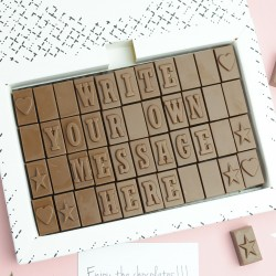 Personalised Chocolate Gift - 4 Rows