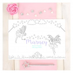 Personalised Fairy Wedding Colouring Placemat