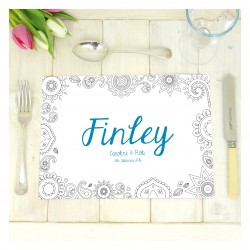 Personalised Wedding Colouring In Place Mats