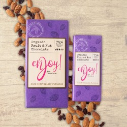 Fruit & Nut Raw Organic Chocolate Bars (5 bars)