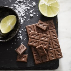 3 Bars of Peruvian Lime & Sea Salt Milk Chocolate 41%