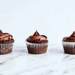 Chocolate Salted Caramel Vegan Cupcakes