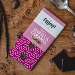 Vanilla Caramel Filled Raw Organic Chocolate Bars (5 pack)