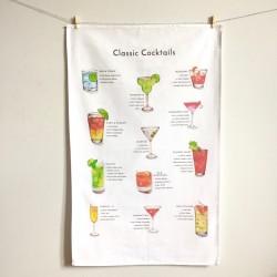 Classic Cocktails Tea Towel