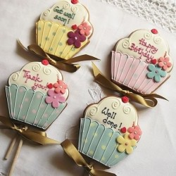 Personalised Giant Cupcake Cookie Pop