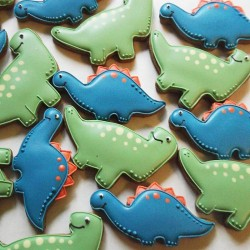 10 Cute Dinosaur Biscuits - Children's Party Favour