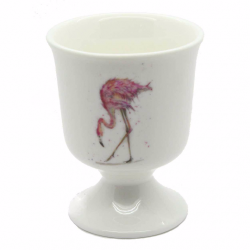 2 Flamingo Egg Cups - Fine Bone China - Made in England