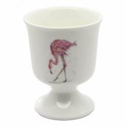 2 Flamingo Egg Cups - Fine Bone China - Made in England