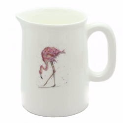 Mini Jug - Flamingo - Fine Bone China - Made in England