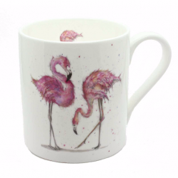 Flamingo Mug - Made in England - Fine Bone China