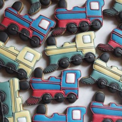 10 Train Cookies - Children's Party Biscuits