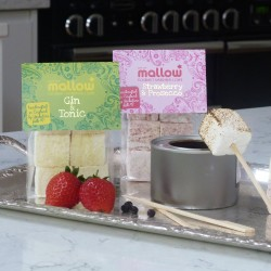 Boozy marshmallow toasting kit