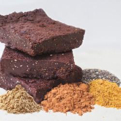 6 Organic Vegan Gluten & Dairy Free Chocolate & Maca (Caramaca) Brownies