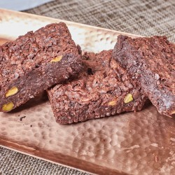 Gluten-Free Vegan Brownie with Pistachios
