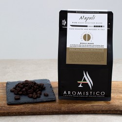 Premium Artisan Hand Roasted Coffee Beans Matured In Italy Napoli - Dark Roast Selection Blend