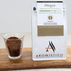 Aromistico Coffee Intense Light Roast Premium Italian Ground Coffee Venezia Blend